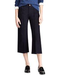 Ralph Lauren - Cropped Wide-leg Jeans - Lyst