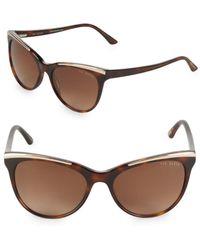 Ted Baker - 55mm Cat-eye Tortoiseshell Sunglasses - Lyst