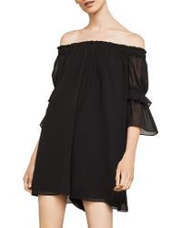 BCBGMAXAZRIA - Shirred Off-the-shoulder Romper - Lyst