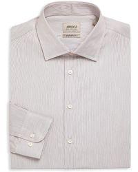 Giorgio Armani - Regular Fit Pinstriped Dress Shirt - Lyst