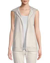 Nanette Lepore - Front-zip Sleeveless Hoodie - Lyst