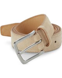 Saks Fifth Avenue - Suede Feather Edge Belt - Lyst