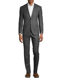 Corneliani - Classic Fit Windowpane Wool Suit - Lyst