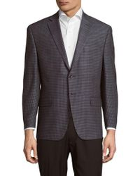 Michael Kors - Classic Fit Checked Windowpane Sportcoat - Lyst