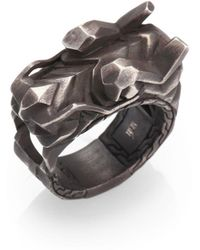 John Hardy - Naga Silver Dragon Head Ring - Lyst