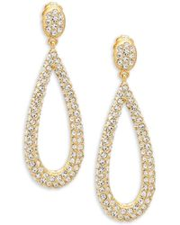 Adriana Orsini - Crystal Drop Earrings - Lyst