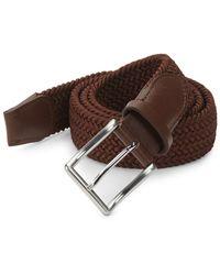 Saks Fifth Avenue - Woven Leather Belt - Lyst