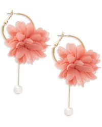 Natasha Couture - Textured Floral Drop Earrings - Lyst