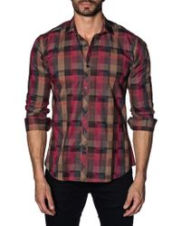Jared Lang - Plaid Cotton Button-down Shirt - Lyst
