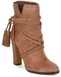 Vince Camuto - Cyndia Leather Ankle Boots - Lyst