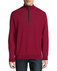 Bugatchi - Quarter-zip Knit Jumper - Lyst