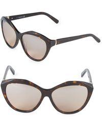 af7c26c7cea Swarovski - 54mm Crystal Cat-eye Sunglasses - Lyst
