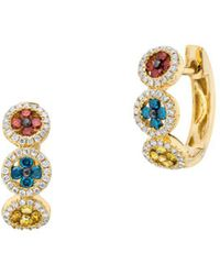 Le Vian - Exotics Cherryberry Diamond, Blueberry Diamond, Goldenberry Diamond, Vanilla Diamond And 14k Honey Gold Earrings - Lyst