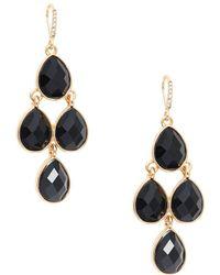 Ava & Aiden - Onyx Chandelier Earrings - Lyst