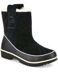 Sorel - Tivoli Suede & Fur Pull-on Boots - Lyst