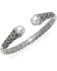 John Hardy - Pearl, Sapphire & Sterling Silver Cuff Bracelet - Lyst