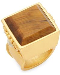 Stephanie Kantis | Mesa Tigers Eye And Beige Chalcedony Ring | Lyst