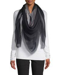 Karl Lagerfeld - Abstract Wool Blend Scarf - Lyst