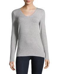 Saks Fifth Avenue Black - Pullover V-neck Jumper - Lyst