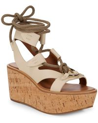 Frye - Dahlia Robe Wedge Sandals - Lyst