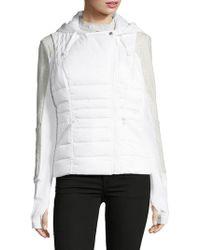BLANC NOIR - Three-in-one Packable Down Moto Jacket - Lyst