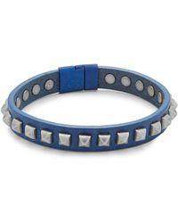 Tateossian - Leather Pyramid Bracelet - Lyst