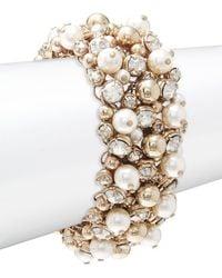 Valentino - Sparkle Faux Pearl Bracelet - Lyst