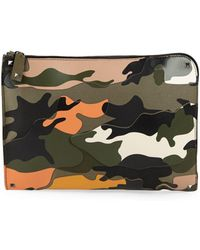 Valentino - Camouflage Leather Pouch - Lyst