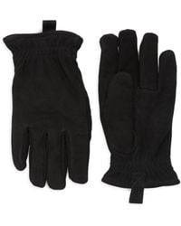 UGG - Faux Fur-lined Leather Gloves - Lyst