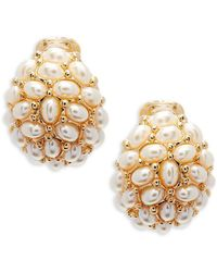 Kenneth Jay Lane - Pearl Clip-on Earrings - Lyst