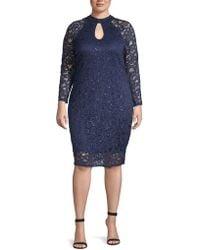 Marina - Plus Lace Sheath Dress - Lyst
