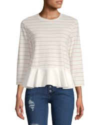 English Factory - Stripe Ruffle Top - Lyst