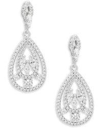 Saks Fifth Avenue - Crystal Teardrop Chandelier Earrings - Lyst