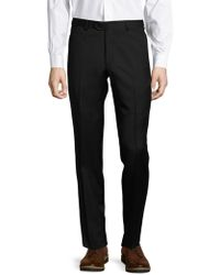 Santorelli - Solid Virgin Wool Trousers - Lyst