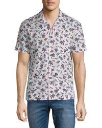 Original Penguin - Cotton Palm Tree Shirt - Lyst