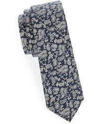 Joe's Collection - Paisley Slim Cotton Tie - Lyst