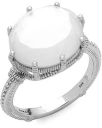 Judith Ripka - Rock Crystal Solitaire Ring - Lyst