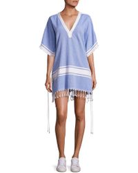 Koza - Melissa Textured Cotton Caftan - Lyst