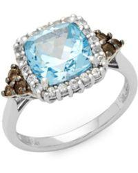Le Vian - Topaz & Sapphire White Gold Ring - Lyst