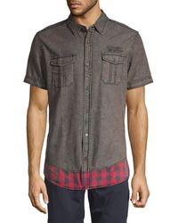 Buffalo David Bitton - Printed Short-sleeve Shirt - Lyst