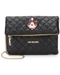 Love Moschino - Quilted Faux Leather Convertible Clutch - Lyst