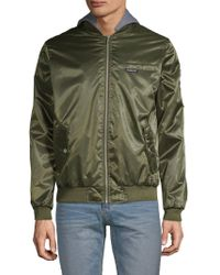Members Only - Classic Hooded Bomber Jacket - Lyst