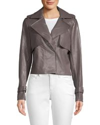 Bagatelle - Cropped Faux Leather Trench Coat - Lyst