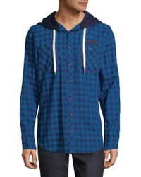 PRPS - Check Cotton Hooded Button-down Shirt - Lyst
