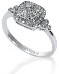 Effy - Bouquet 14kt White Gold And Diamond Ring - Lyst