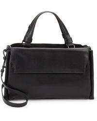 Halston - Large Boxed Leather Satchel - Lyst