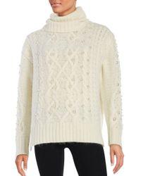 Rachel Zoe - Embellished Cable-knit Jumper - Lyst