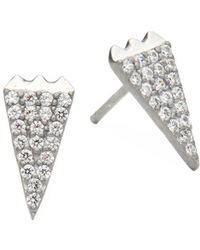 Freida Rothman - Sterling Silver & Crystal Stud Earrings - Lyst