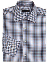 Ike By Ike Behar - Long Sleeve Checkered Dress Shirt - Lyst