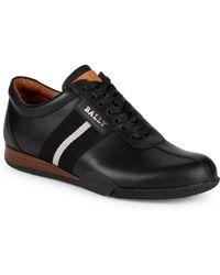 Bally - Frenz Leather Platform Sneakers - Lyst